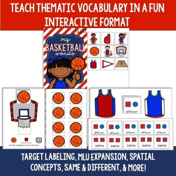 Basketball Preschool Language Unit