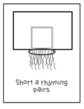 Basketball Rhyming Pairs