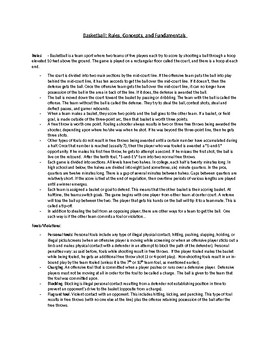 Basketball: Rules, Skills, Violations, History of the Game