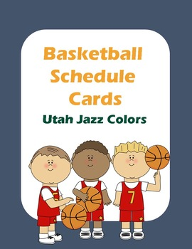 Basketball Schedule Cards
