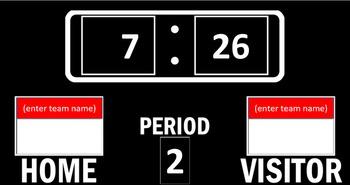 PowerPoint Basketball Score Board - Keeps score