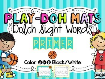 Basketball Sight Word Play Doh Mats {Dolch Primer}