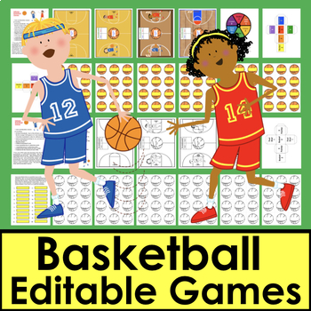 Basketball Activities Sight Words EDITABLE For ANY List Letters, Math, too!