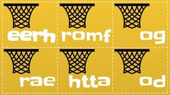 Basketball Sight Words Mix-Match