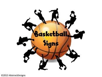 Basketball Signs