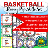 "Basketball Skills ""Lollipop"" Fluency Set for Physical Education Elementary"