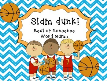 Basketball Slam Dunk -Nonsense words game
