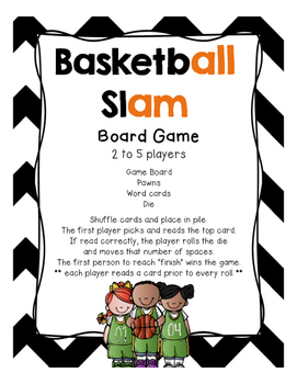 Basketball Slam (glued/welded sounds of all, am, an)