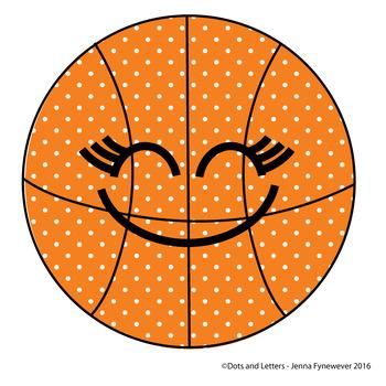 Basketball Smiley Face Vector Image