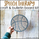 Basketball Speech Therapy Craft & Bulletin Board Kit