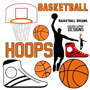 Basketball Sports Theme - Digital Clip art Elements