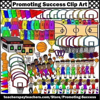 Basketball Clipart, Winter Sports Clip Art, Jerseys, Team Players, Court SPS