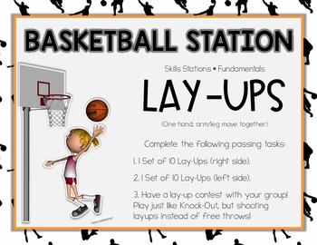 Basketball Station Task Cards