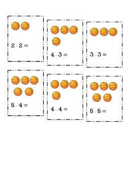 Basketball Subtraction Card Game