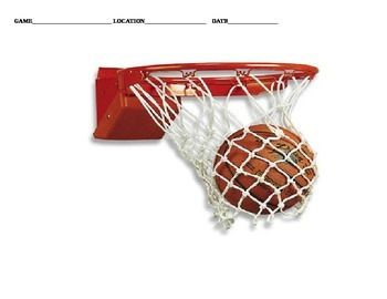 Basketball Team Stat Tally Sheet