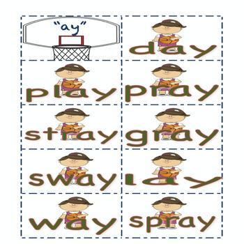 "Basketball Theme Long ""A"" sound and sort"