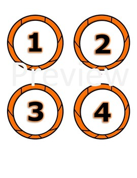 Basketball Theme Lunch Count Cards-- Sports Classroom