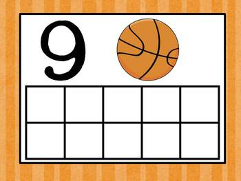Basketball / Sports Theme Ten Frames
