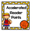 Basketball Themed Accelerated Reader Point Clip Chart (Ink Saver)