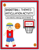Basketball Themed Articulation Activity!