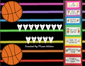 Basketball Themed Behavior Chart