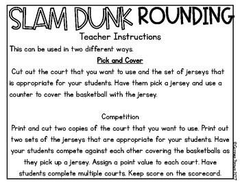 Basketball Themed Differentiated Rounding Station