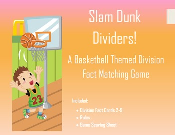 Basketball Themed Division Flash Card Game
