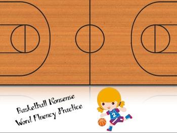 Basketball Themed Nonsense Word Fluency
