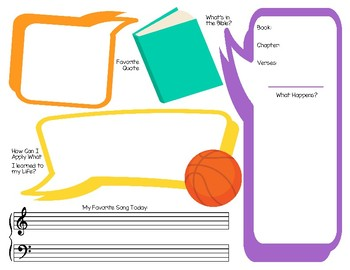 Basketball Themed Religious Notes Pages (2 Sided)
