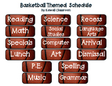 Basketball Themed Schedule Cards