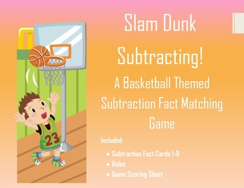 Basketball Themed Subtraction Flash Card Game