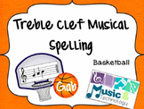 Treble Clef Music Note Spelling- Basketball Printable
