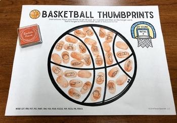 Basketball Thumbprints: A Speech Therapy Art Activity