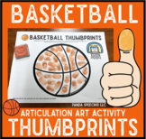 Basketball Thumbprints: A Speech Therapy Art Activity