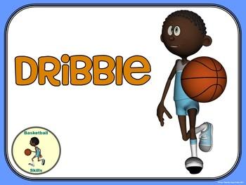 Basketball- Top 10 Skill Visuals- Simple Large Print Design