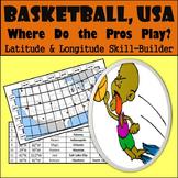 Latitude and Longitude Activity - Basketball, USA