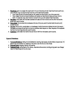 Basketball Unit Notes & Test