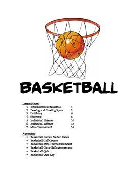 Basketball Unit Plan