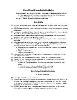 6-12 Grade Basketball Unit Plan