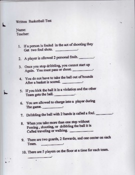 Basketball Unit Test