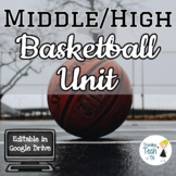Basketball Unit for Middle & High School - Editable in Goo