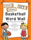 Basketball Word Wall Display