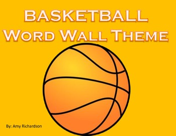 Basketball Word Wall Letters
