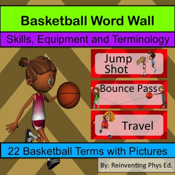 Basketball Word Wall: Skills, Equipment and Terminology -