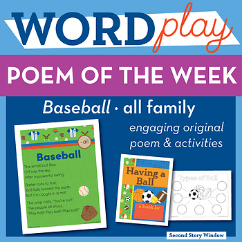 Baseball -all Word Family Poem of the Week