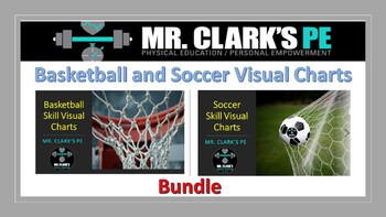 Basketball and Soccer Visual Charts Bundle
