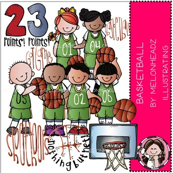 Melonheadz: Basketball clip art - COMBO PACK
