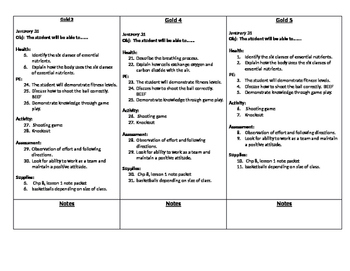 Basketball daily lesson plans