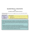 Basketball dribbling stations for fourth grade through hig