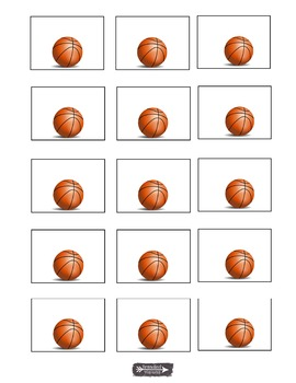 Basketball labels, name tags, bulletin board, charts